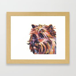 Fun Red Cairn Terrier Dog Portrait bright colorful Pop Art by LEA Framed Art Print