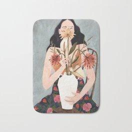 Hilda with vase Bath Mat