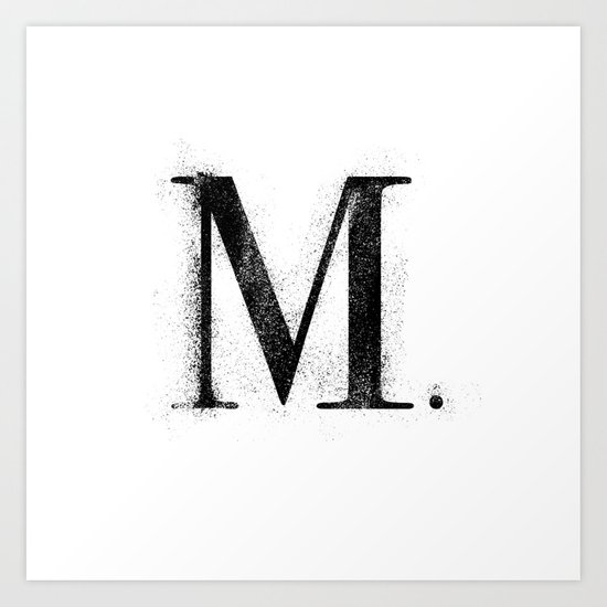 M. - Distressed Initial by dirt_merchant