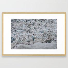 Ice Worker Framed Art Print