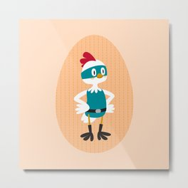 Super chicken Metal Print