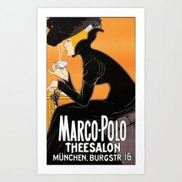 Marco Polo Tea Room Art Deco Ad Art Print