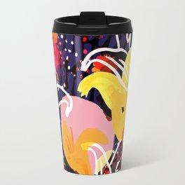 Pinkmoon Nocturnal Flower Constallation Travel Mug
