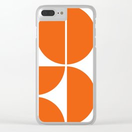 Mid Century Modern Orange Square Clear iPhone Case