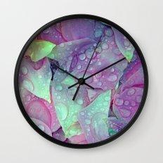 RAIN PETALS Wall Clock