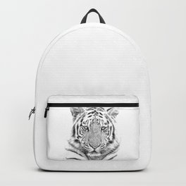 Black and white tiger Backpack