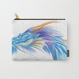 Blue Blaze Dragon Carry-All Pouch
