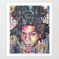 basquiat Art Prints featuring Basquiat by Makelismos