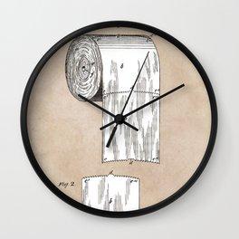 Toilet Paper patent art Wall Clock