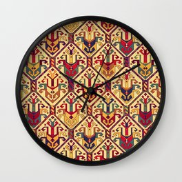 Kilim Fabric Wall Clock