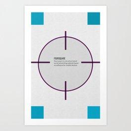 Tribute to Foursquare Art Print