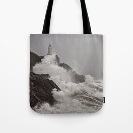 Wild Welsh Waves Tote Bag