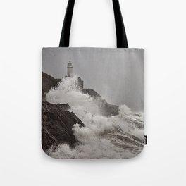 Wild Welsh Waves Tote Bag