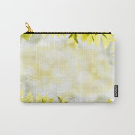 Elm green bright leaves and blurred bokeh Carry-All Pouch