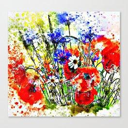 Garden Chock Full of Flowers Canvas Print