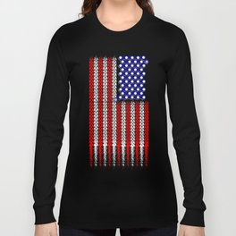Bike USA Flag Long Sleeve T-shirt