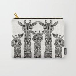 Black Giraffes Carry-All Pouch