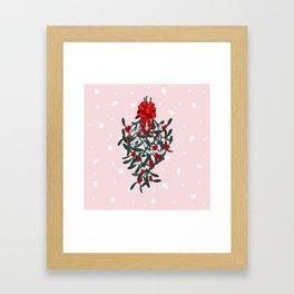Elegant Mistletoe Holiday Design Framed Art Print