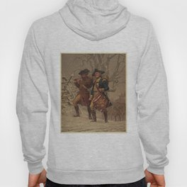 Vintage Continental Army Soldiers Painting (1875) Hoody