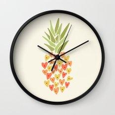 My Pineapple Valentine Wall Clock