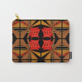 Ethnic pattern in red black yellow . Carry-All Pouch