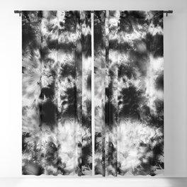 Black and White Tie Dye & Batik Blackout Curtain