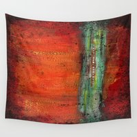 copper Wall Tapestries featuring Copper by Paper Rescue Designs