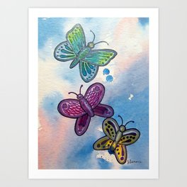 Butteflies Art Print