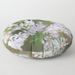 Dainty Florals - Purple Asters Photography Floor Pillow