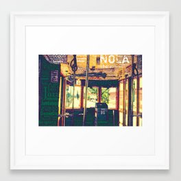 nola street car Framed Art Print