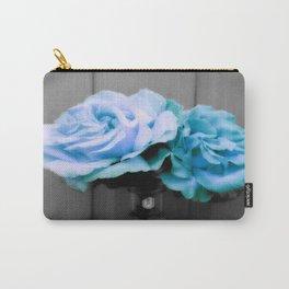 fLoWers Aqua Blue Pop of Color Carry-All Pouch
