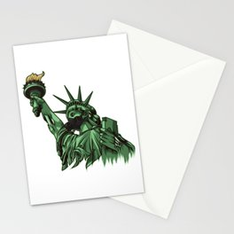Rotting Statue of Liberty | Anti Government Stationery Cards