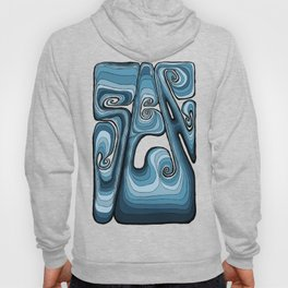 Sea Typography - Sailor Blue Hoody