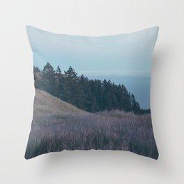 Mountain Side Views Throw Pillow