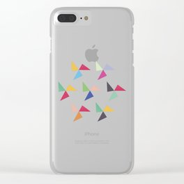 Colorful geometric pattern IV Clear iPhone Case
