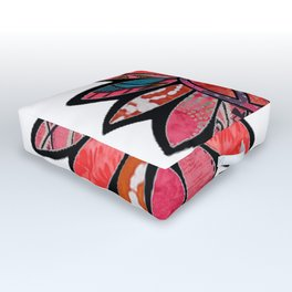 Pink Bliss Peace Flower Outdoor Floor Cushion