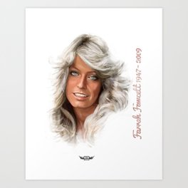 Farrah Fawcett  Art Print