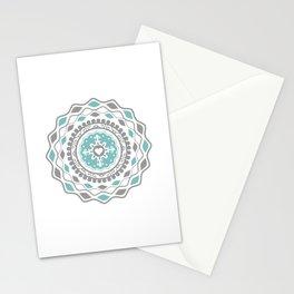Heart Mandala – Blue Stationery Cards