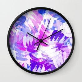 Abstract Purple Paint Pattern Wall Clock
