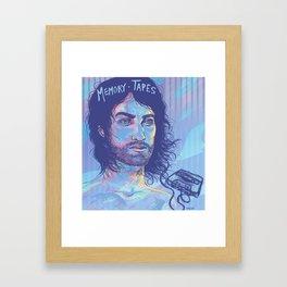 Memory Tapes Framed Art Print