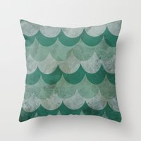scales Throw Pillows featuring Scales by Jarrah James