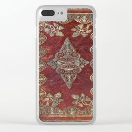 Tarnished Brass Book Cover Clear iPhone Case