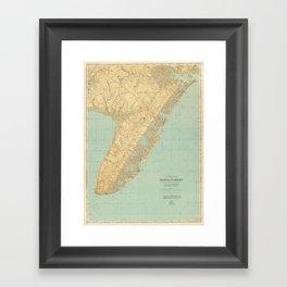 Vintage Map of Cape May NJ (1888) Framed Art Print
