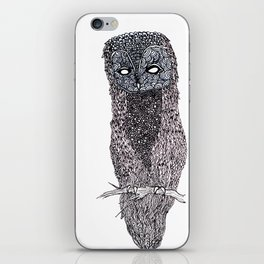 Owl // ink iPhone Skin
