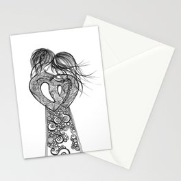 Love on a pedestal Stationery Cards