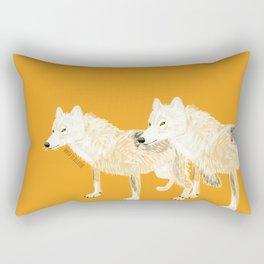 Totem wolf (Canis lupus nubilus (pair) (c) 2017 Rectangular Pillow