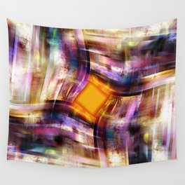 Rhombus Orange Wall Tapestry