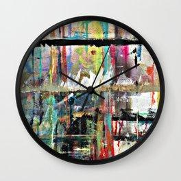 Colorful Bohemian Abstract 3 Wall Clock