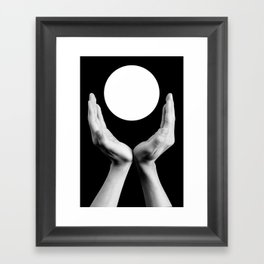 I Worship Black Framed Art Print