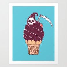 Ice grim Art Print
